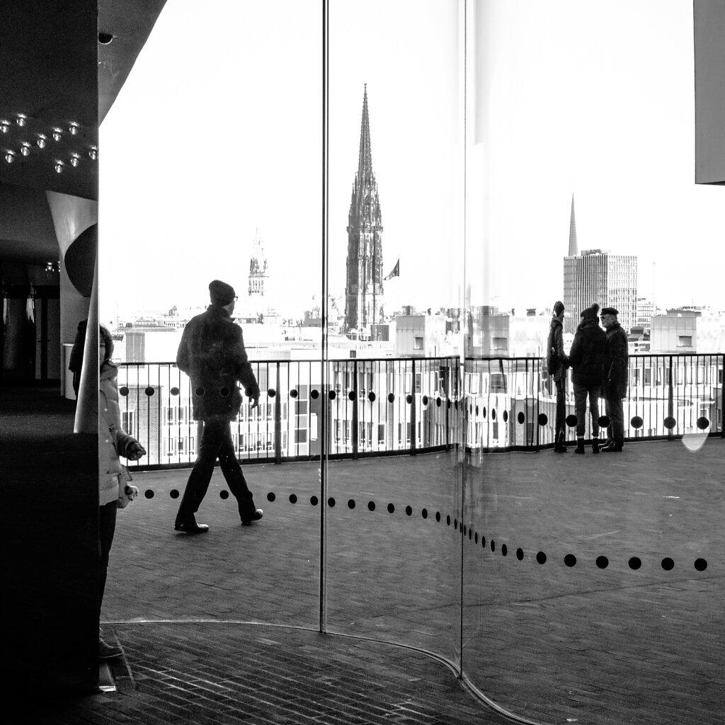 Auf der Elbphilharmonie